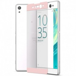 Full cover 3D tvrzené sklo 9H pro Sony Xperia XA růžové