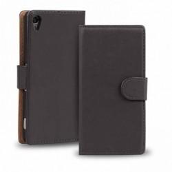 Sony Xperia XA kožená peněženka černá