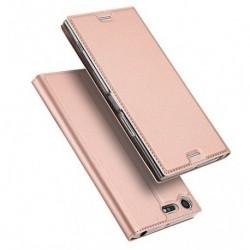 Flipové pouzdro DUX pro Sony Xperia XZ Premium růžové
