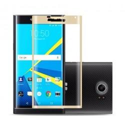 Full cover 3D tvrzené sklo 9H pro Blackberry Priv zlaté