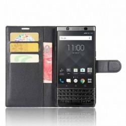 Blackberry KeyOne kožená peněženka černá