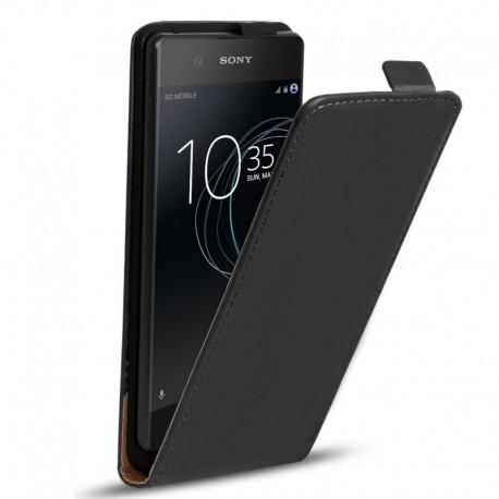 Sony Xperia XZ1 Compact kožené flipové pouzdro černé