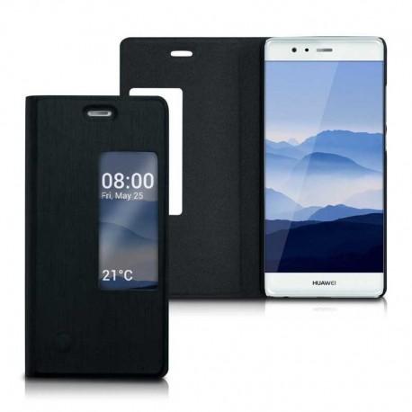Slim flipové S-View pouzdro pro Huawei P9 černé