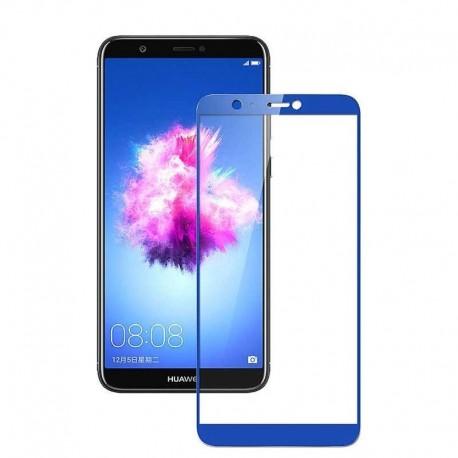 Full cover 3D tvrzené sklo 9H pro Huawei P Smart modré