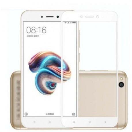 Full cover 3D tvrzené sklo 9H pro Xiaomi Redmi Note 5A bílé