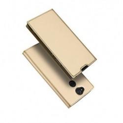 Flipové pouzdro DUX pro Sony Xperia XA2 zlaté