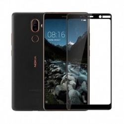 Full cover 3D tvrzené sklo 9H pro Nokia 7 Plus černé