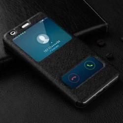 Pouzdro S-view pro Samsung Galaxy A6+ A605F černé