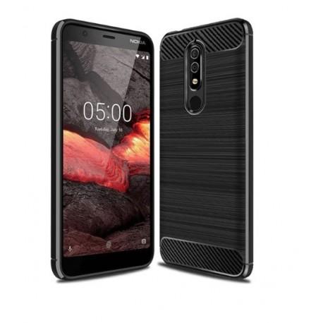 Silikonové pouzdro CARBON pro Nokia 5.1 černé