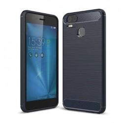 Silikonové pouzdro CARBON pro Asus Zenfone Zoom S ZE553KL modré