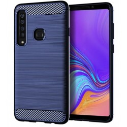 Silikonové pouzdro CARBON pro Samsung Galaxy A9 2018 A920F modré