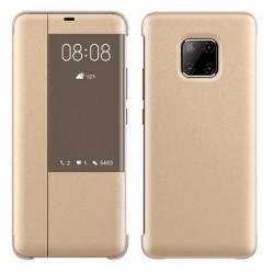Pouzdro Smart View pro Huawei Mate 20 Pro zlaté