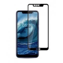 Full cover 3D tvrzené sklo 9H pro Nokia 5.1 Plus černé