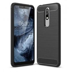 Silikonové pouzdro CARBON pro Nokia 5.1 Plus černé