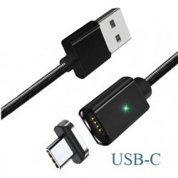 Magnetický kabel ESSAGER + koncovka USB-C, délka 1M černý