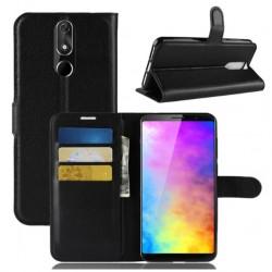 Cubot Power kožená peněženka černá