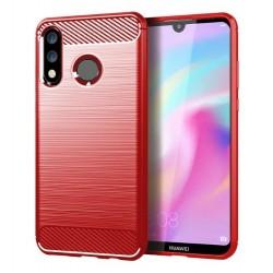 Silikonové pouzdro CARBON pro Huawei P30 Lite červené