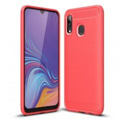 Silikonové pouzdro CARBON pro Samsung Galaxy A40 A405F červené