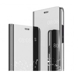 Smart pouzdro Mirror pro Xiaomi Redmi Note 8 stříbrné