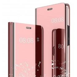 Smart pouzdro Mirror pro Xiaomi Redmi Note 9S růžové