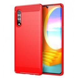Silikonové pouzdro CARBON pro LG Velvet červené