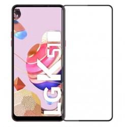 Full cover 3D tvrzené sklo 9H pro LG K61 černé