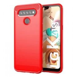 Silikonové pouzdro CARBON pro LG K41S červené