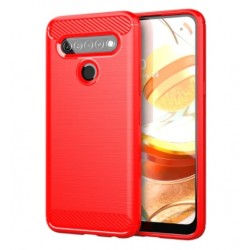 Silikonové pouzdro CARBON pro LG K51S červené