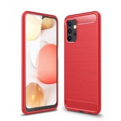 Silikonové pouzdro CARBON pro Samsung Galaxy A32 5G červené