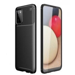 Silikonové pouzdro CARBON pro Samsung Galaxy A02s černé