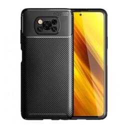 Silikonové pouzdro CARBON pro Xiaomi Poco X3 černé
