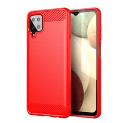 Silikonové pouzdro CARBON pro Samsung Galaxy M12 červené