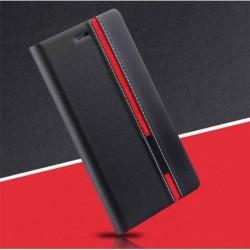 Kožené peněženkové pouzdro pro TCL 10L černé