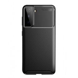 Silikonové pouzdro CARBON pro Samsung Galaxy S21 5G černé