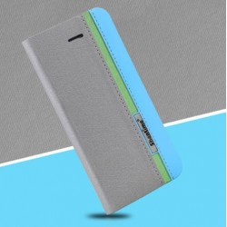 Kožené peněženkové pouzdro pro Asus Zenfone 8 šedé