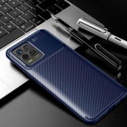 Silikonové pouzdro CARBON pro Realme 8 modré