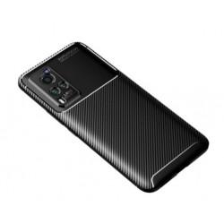 Silikonové pouzdro CARBON pro Vivo X60 Pro 5G černé