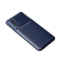 Silikonové pouzdro CARBON pro Vivo X60 Pro 5G modré