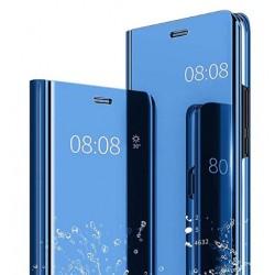 Smart pouzdro Mirror pro Xiaomi Redmi Note 10 5G modré