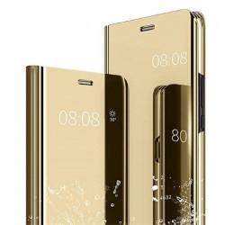 Smart pouzdro Mirror pro Xiaomi Redmi Note 10 5G zlaté
