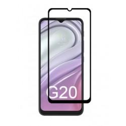 Full cover 3D tvrzené sklo 9H pro Motorola Moto G20 černé