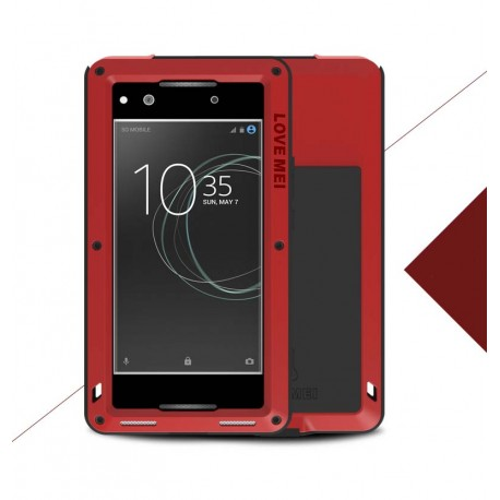 Love Mei Case outdoor pouzdro pro Sony Xperia XA1 červené