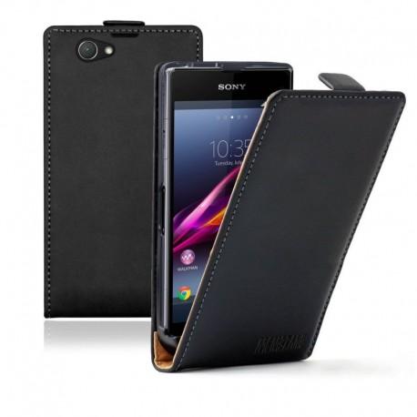 Sony Xperia Z1 Compact flip kožené pouzdro černé