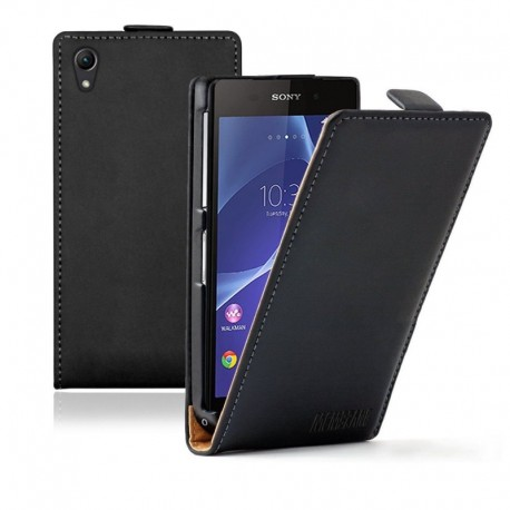 Sony Xperia Z2 D6502 flip kožené pouzdro černé