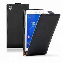 Sony Xperia Z3 Compact flip kožené pouzdro černé