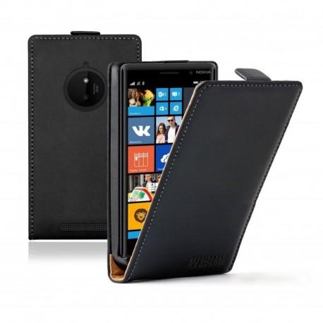 Nokia Lumia 830 flip kožené pouzdro černé